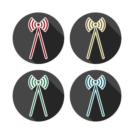 Radio wawe icon illustration