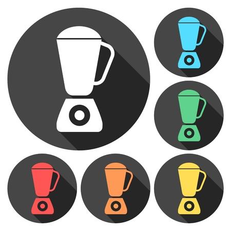 Kitchen blender icons