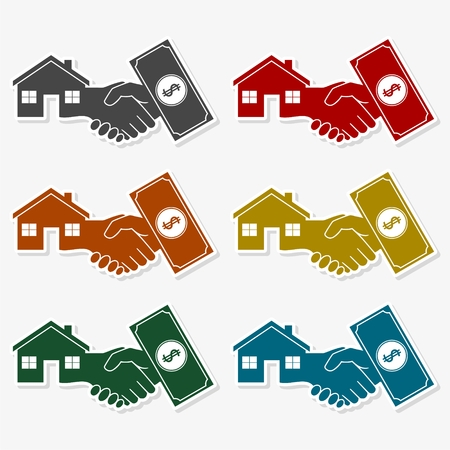 Cash For House icon, Vector illustration of a money, pay or buy icon