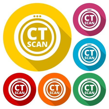 ct scan: CT Scan sign Illustration