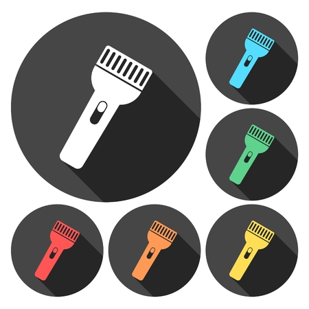 flashlights: Set of colorfully flashlights vector illustration Illustration