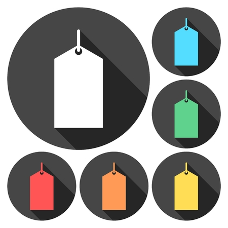 Set of colorful price tags Illustration