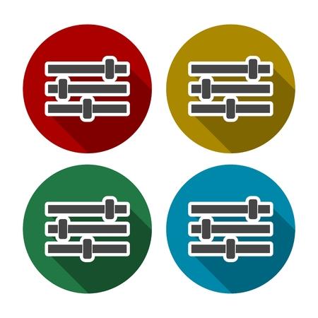 Color equalizer set Illustration