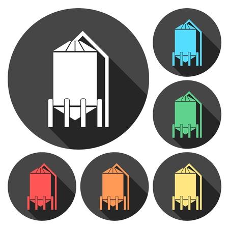 Silos storage icon Illustration
