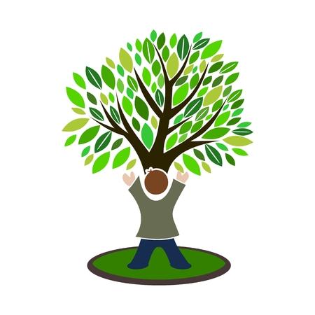 concern: Child Tree Icon Illustration