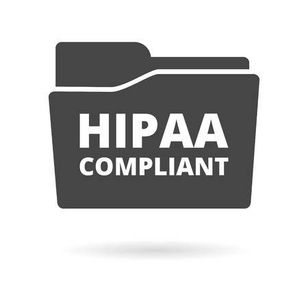 HIPAA Compliance Icon Graphic  イラスト・ベクター素材