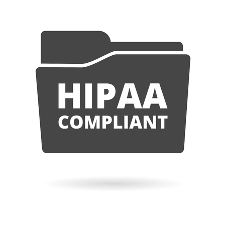 HIPAA Icon Grafik Standard-Bild - 70383899