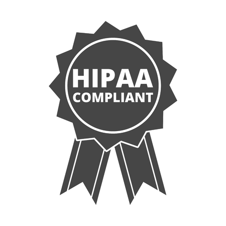 HIPAA Compliance Icon Graphic Illustration