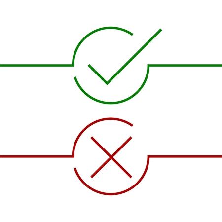 Check mark icon Illustration
