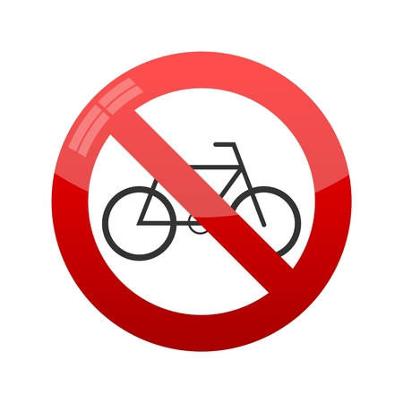 No bicycle sign, Vector illustration