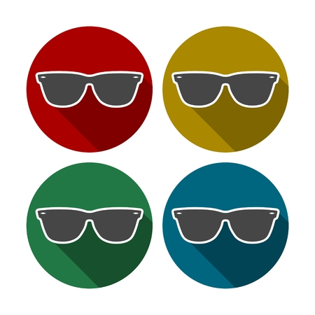 uv: Sunglasses icon Illustration