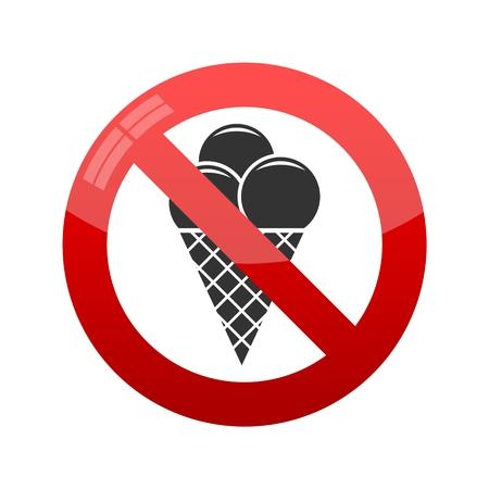 glace: No ice cream symbol Illustration