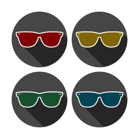 eyewear fashion: Sunglasses icon Illustration