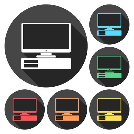 computer: Computer icon Illustration