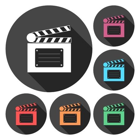 icon: Clapperboard open icon Illustration