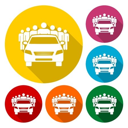 car: Car Sharing icon Illustration