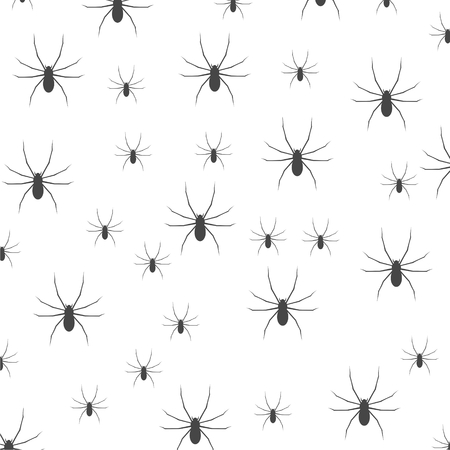 quadrate pictogram: Seamless pattern with spider symbol Illustration