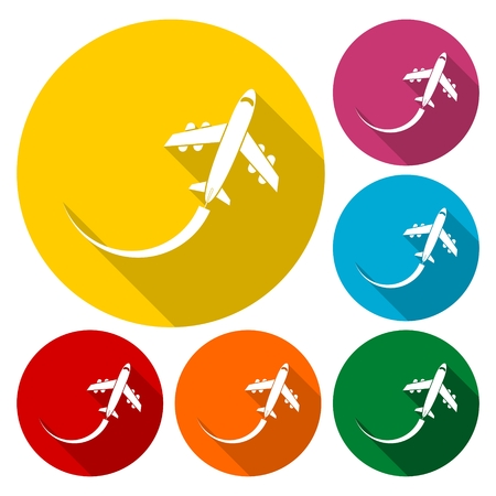 Air travel, Vector Illustration, Airplane sign icon Illustration