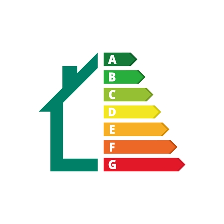 Housing energy efficiency, House and energy efficiency concept