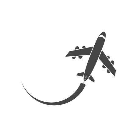 Air travel, Vector Illustration, Airplane sign icon Vettoriali