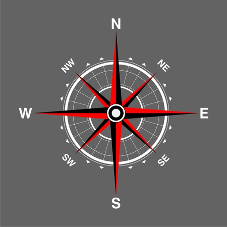 Compass icon. Compass icon art. Illustration
