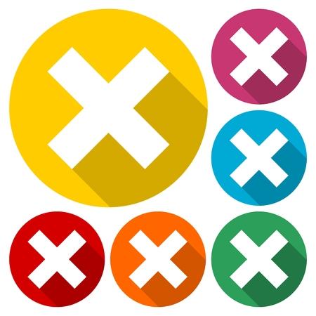 denial: Delete sign icon. Remove button
