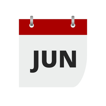 symbols: Calendar sign icon. June month symbol.