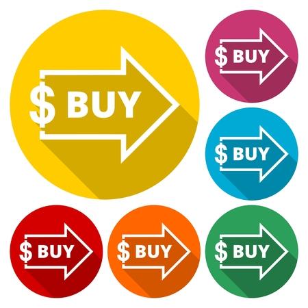 buy icon: Dollar Sign With Arrow, Buy icon