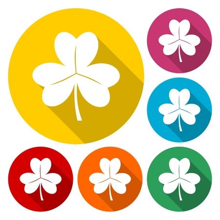 cloverleaf: Vector set of clovers Illustration