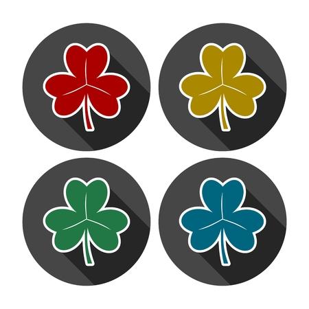 clovers: Vector set of clovers Illustration
