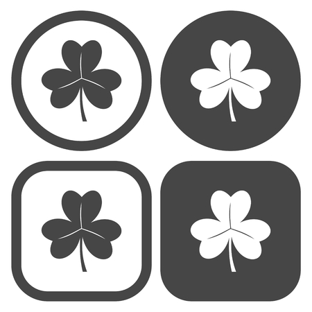 erin: Vector set of clovers Illustration