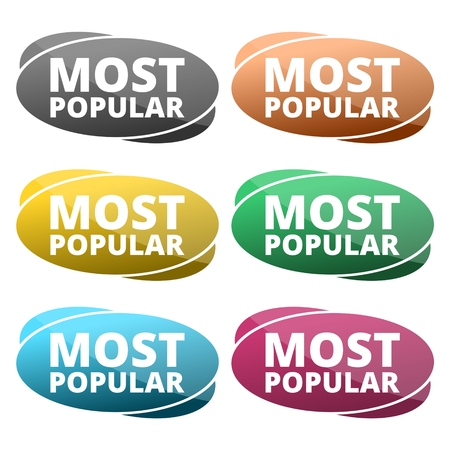 most creative: Most popular sign icon. Bestseller symbol Illustration