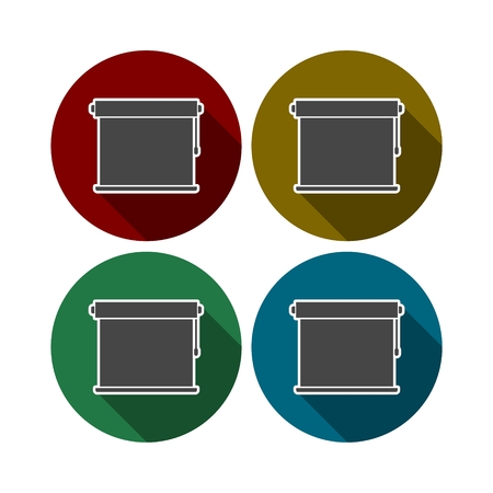 casement: Louvers rolls sign icon, Blinds icon Illustration