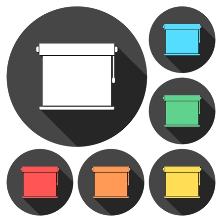 Louvers rolls sign icon, Blinds icon Illustration