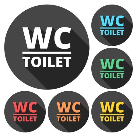 babys dummies: WC Toilet sign icon