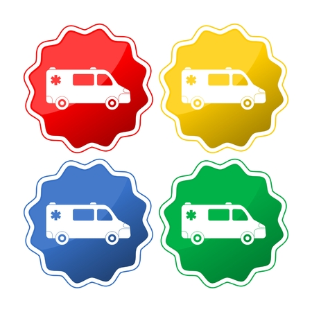 Ambulance car. Set of the car icons