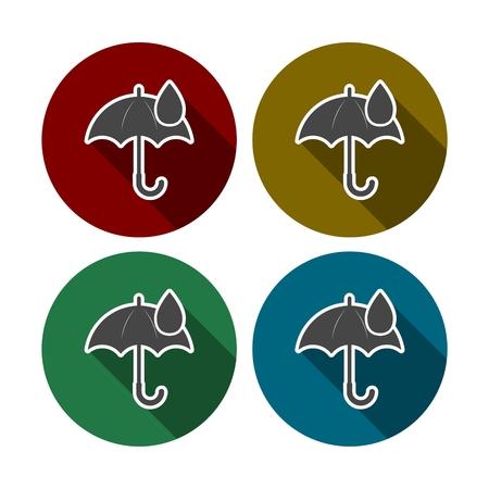 rainproof: Umbrella sign icon. Water drop symbol Illustration