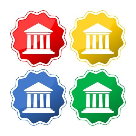 Set von 4 bunten Bauschildern Vektorgrafik