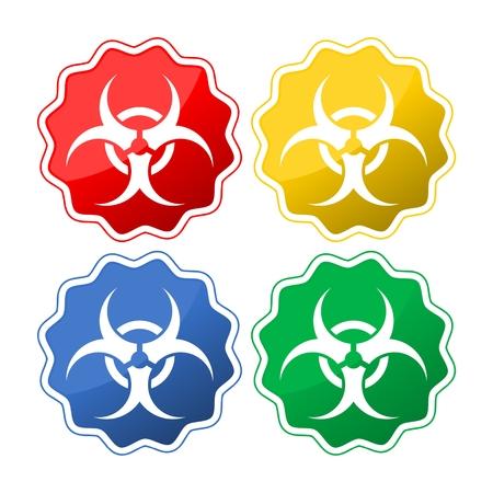 Bio hazard icon Illustration