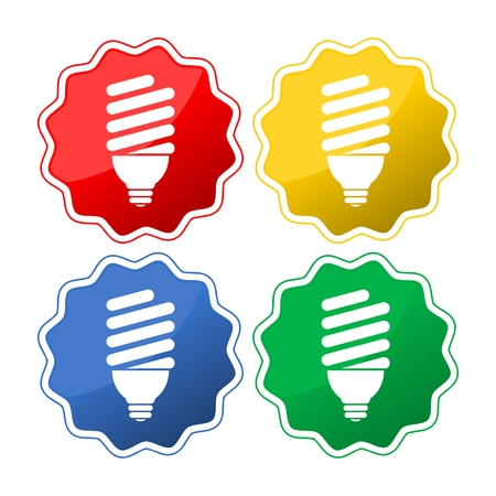 Four light bulbs icon Illustration