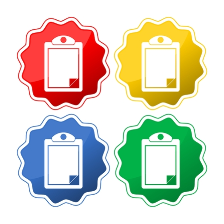 Checklist set four colors Illustration
