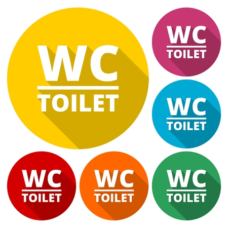 wc: WC Toilet sign icon