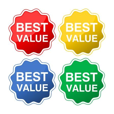 Iconos de mejor valor Foto de archivo - 72000509