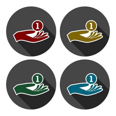 beggar's: Donation hand sign icon