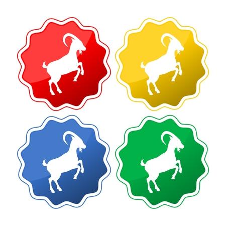 Goat button icon