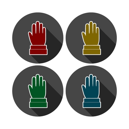 Hands raised up, Election or voting sign icon