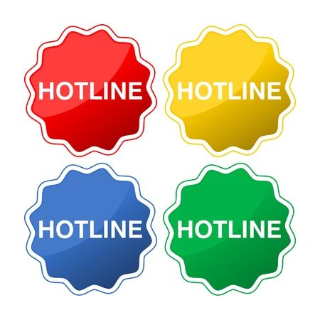 web buttons: Hotline web buttons