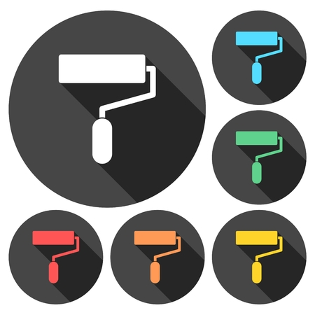 Painting roller, brush icon