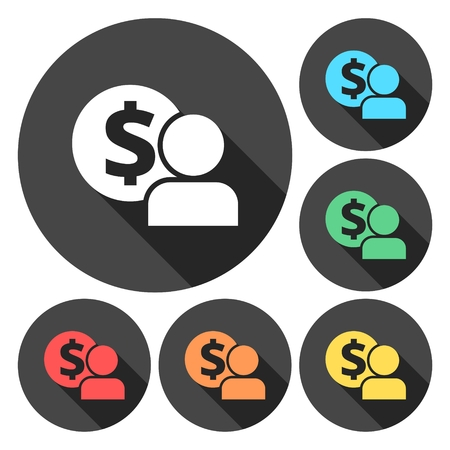 salarios: Empleado salarios del icono del vector