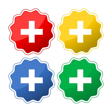 Vector Plus Icon Symbol Set